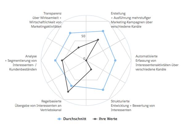 Digitaler Reifegrad –Beispielgrafik aus einer Auswertung