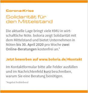 Solidarität für den Mittelstand - Kostenfreie Onlineberatung bis 30.04.20